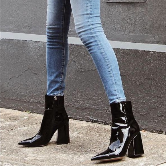 Alias Mae Patent Leather Heeled Boots
